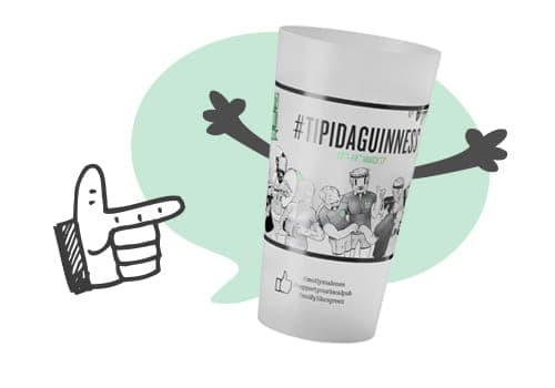 Bicchiere riciclabile e personalizzabile