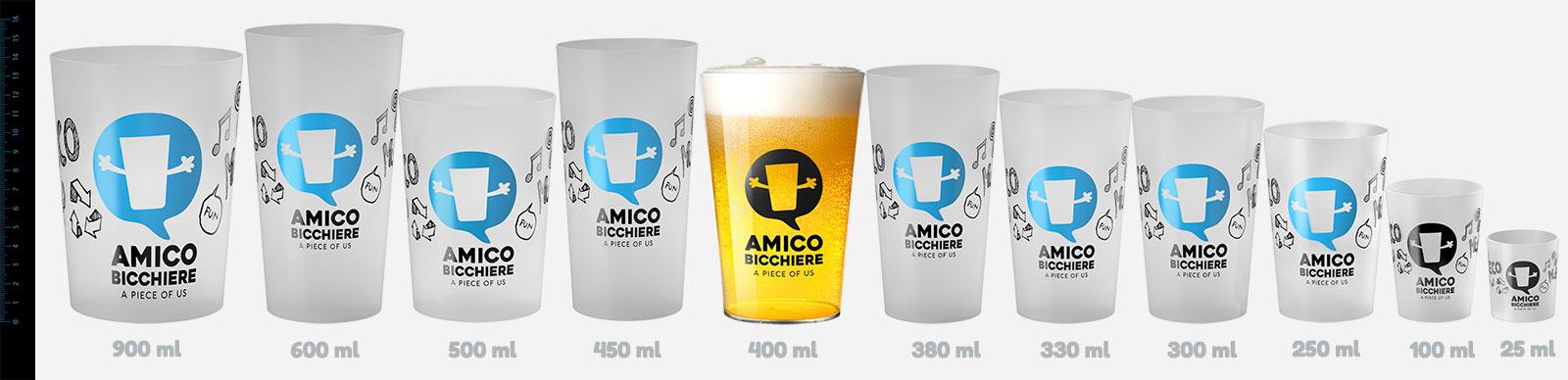 tutta la gamma Amico bicchiere