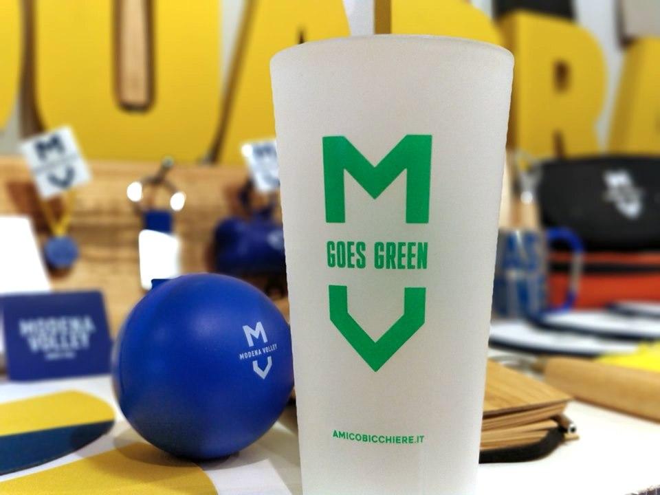 Modena Volley ed Amico Bicchiere per Modena Goes Green